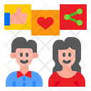 Social Network Share Like Icon