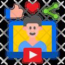 Social Network Live Man Icon