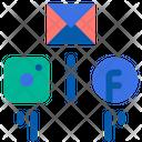 Social Promotion Marketing On Social Media Marketing Icon