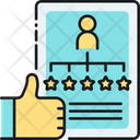 Social Proof Likes Ratings Icon