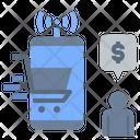 Social Shopper Shopstreaming Online Shopping Icon