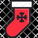 Sock Christmas Decoration Icon