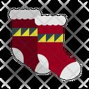 Sock Stocking Winter Wear Icon
