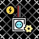 Socket Installation Color Icon