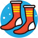 Socks Colorful Footwear Icon