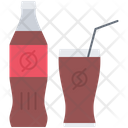 Soda Glass Straw Icon