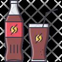 Soda Glass Straw Icon