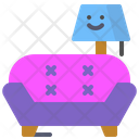 Sofa Couch Lamp Icon