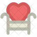 Sofa Heart Shape Icon