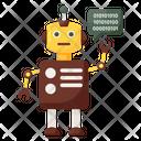 Software Agent Robot Bionic Man Icon