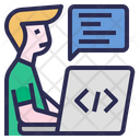 Software Developer Coding Software Engineer Icon