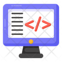 Coding Software Development System Coding Icon