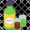 Soju Drink Bottle Icon