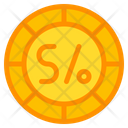 Sol Coin Currency Icon