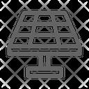 Solar Panel Domotic Icon