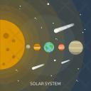 Solar System Galaxy Icon