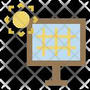 Solar Cell Sun Icon