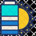 Battery Eco Solar Icon