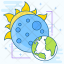 Solar Eclipse Obscure Sun Sun Eclipse Icon