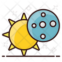 Solar Eclipse Sun Eclipse Planetary System Icon