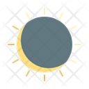 Solar Eclipse Sun Icon