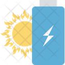 Solar Energy Battery Charging Icon