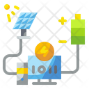 Solar Energy Programming Energy Computer Icon