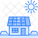 House Solar Battery Icon
