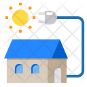 House Solar Power Power And Energy Icon