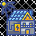 Solar House Solar Home Icon