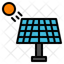 Solar Panel Research Icon