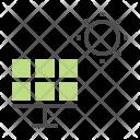 Solar Cell Panel Icon