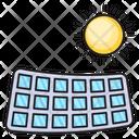 Solar Panel Sun Icon