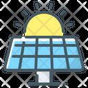 Solar Panel Electricity Alternative Energy Icon