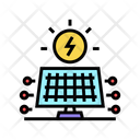 Solar Electrical Panel Icon