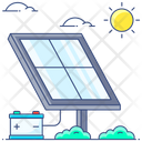 Sun Collector Solar Panel Solar Cell Icon