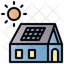 Solar Panel Technology Clean Icon
