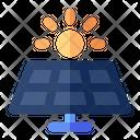 Solar Panel Energy Icon