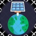 Solar Energy Solar Panel Earth Icon