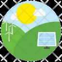Natrual Energy Solar Icon