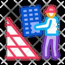 Solar Panel Installer Icon
