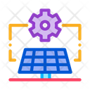 Solar Panel Setup Icon