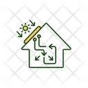 Solar Panel Home Icon