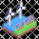 Solar Energy Solar Power Wind Energy Icon