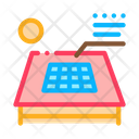 Solar Battery Roof Icon