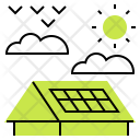 Solar Roof Panels Icon