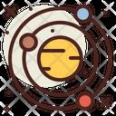Solar Space Galaxy Planet Icon