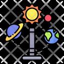 Solar Sustem Planets Astronomy Icon