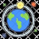 Solar System Scifi Solar Icon