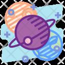 Orbit Satellite Planet Icon